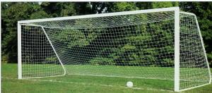 falling soccer goals